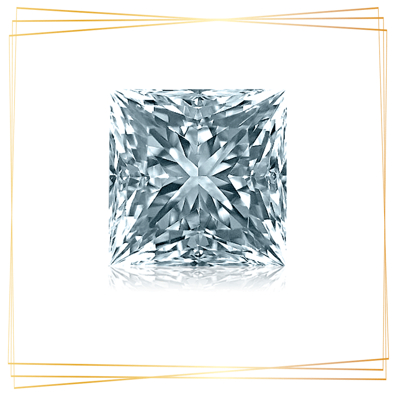 Diamante Princesa 0.70 CT Pureza SI1
