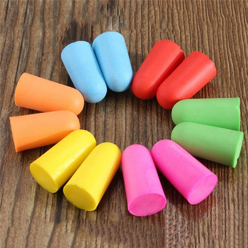10 Pairs Comfort Soft Foam Ear Plugs Travel Sleep Noise Reduction