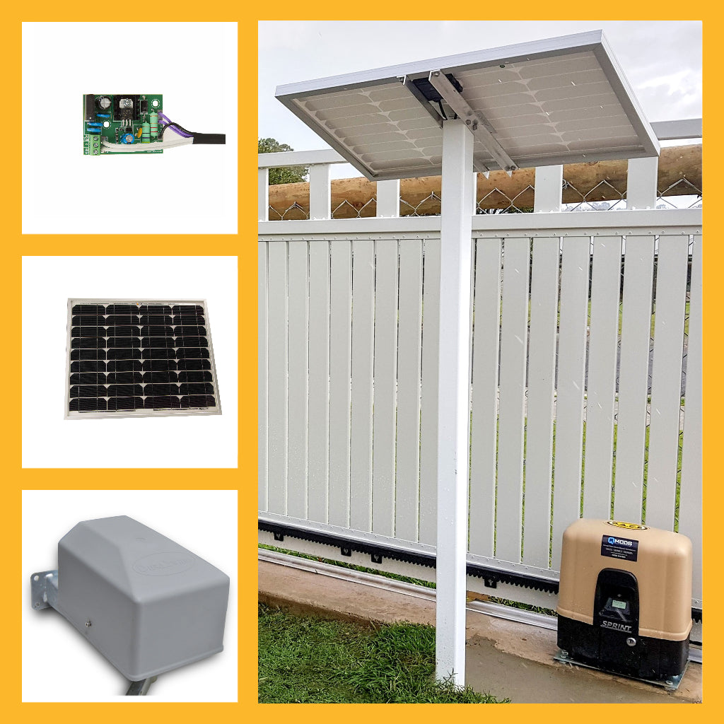 solar powered gate motors
