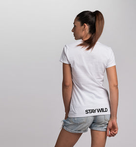 T-Shirt donna STAY WILD BeBEAR in Cotone Organico