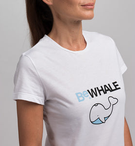 T-Shirt donna STAY WILD BeWHALE in Cotone Organico