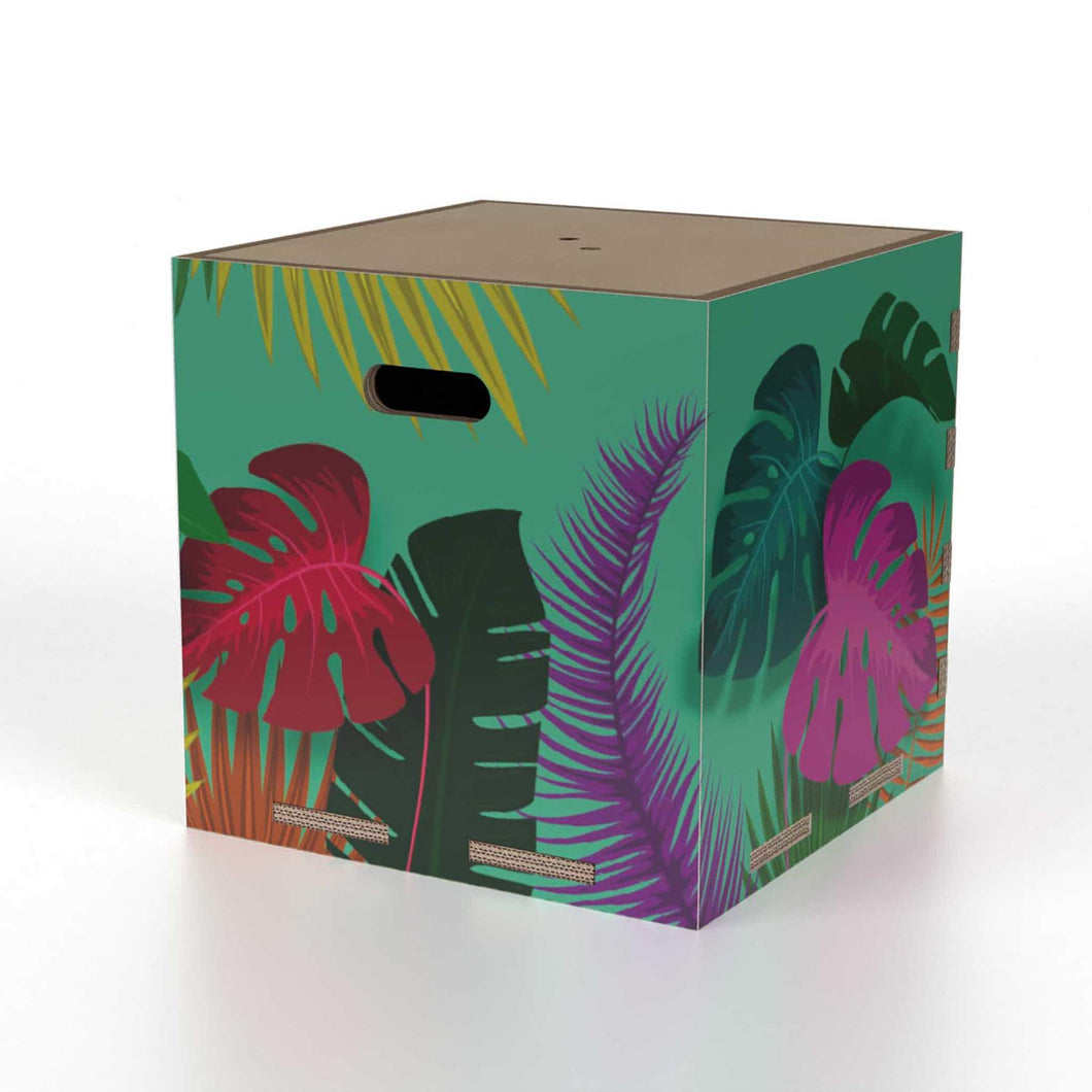 Cubo contenitore - Tropical Green