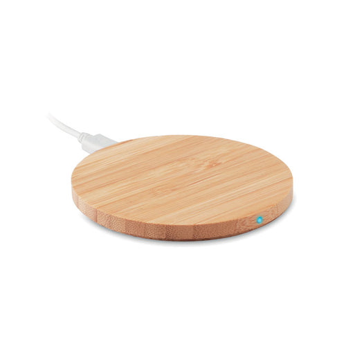 Caricatore Wireless in bamboo