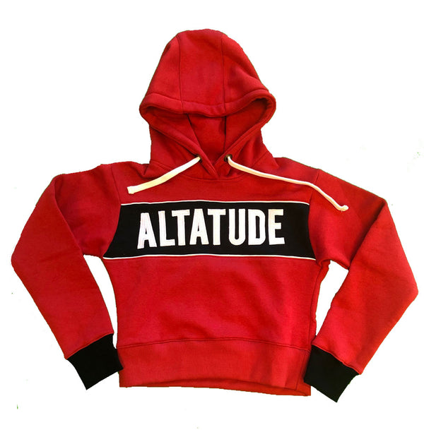 "Women's ALTATUDE ""Name"" crop hoodie red"