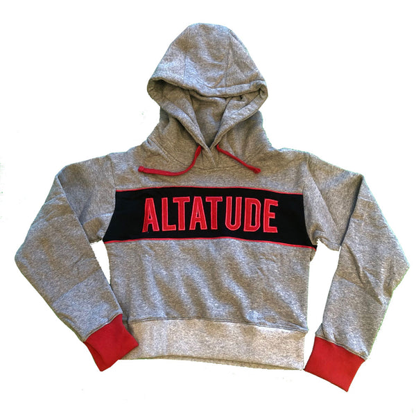 "Women's ALTATUDE ""Name"" crop hoodie grey"