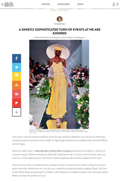 We Are Kindred x Grazia