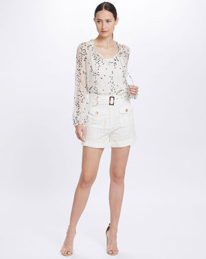 LULU SHORTS IN BROIDERIE