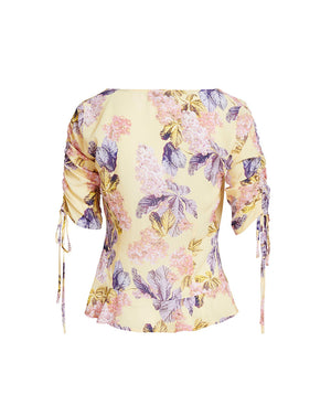 STEVIE SWEETHEART BLOUSE IN LEMON BLOSSOMS