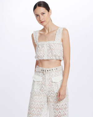 ROMILY CROP TOP IN IVORY
