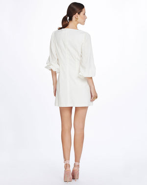 MATHILDE LINEN MINI DRESS IN IVORY