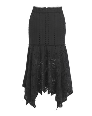 LOLA MIDI SKIRT IN BLACK