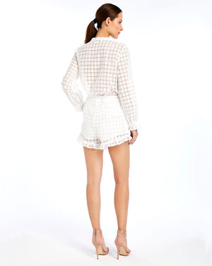 SOOKIE SHORTS - BROIDERIE WHITE