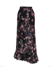 AURELIE ASYMMETRIC MAXI SKIRT - MIDNIGHT GARDEN