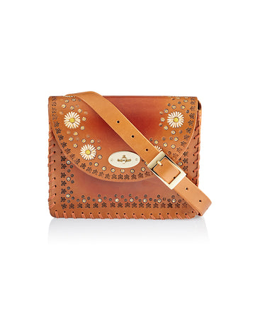 Tiggy + We Are Kindred Daisy Chain Jane Shoulder Bag Cognac, Tiggy by Cuddington