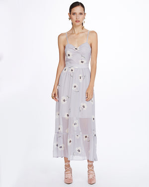 SYLVIE MIDI DRESS - MUSK BLOSSOM