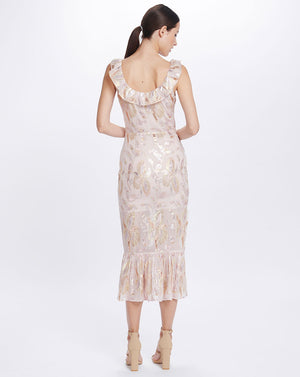 HARLOW FLOUNCE  DRESS IN MORNING LIGHT