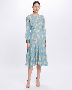 MIA MIDI DRESS IN TEAL POSEY