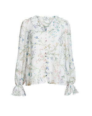 AMBROSIA  BLOUSE IN WHITE BLOOMS