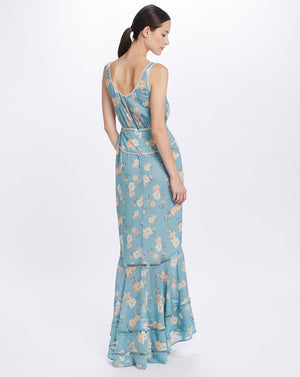 MIA MAXI DRESS IN TEAL POSEY