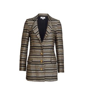 ISOLDE BLAZER IN JACQUARD STRIPE