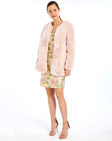 EDIE FUR JACKET - BLUSH