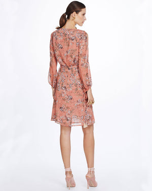 SABINE WRAP DRESS - NECTARINE