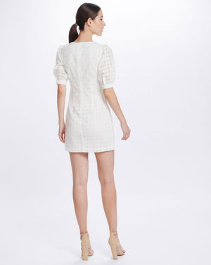 LULU SWEETHEART MINI DRESS IN BROIDERIE