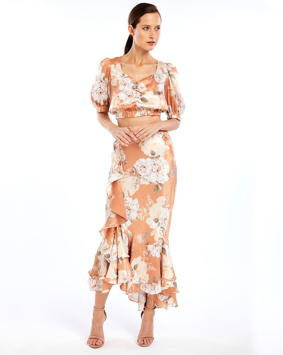 FRENCHIE CROP TOP - PEACH BLOSSOM