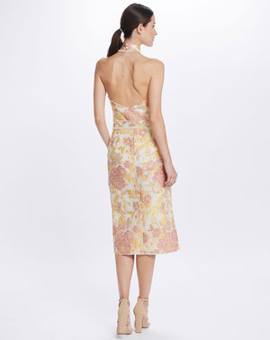 DELPHI MIDI DRESS IN MARIGOLD