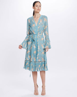 MIA SHIRTDRESS - TEAL POSEY