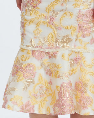 DELPHI KICK FLARE SKIRT IN MARIGOLD