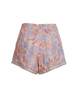 DELILAH SHORTS IN WISTERIA PAISLEY