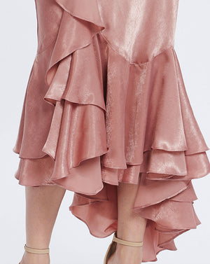 FRENCHIE BIAS SKIRT - BLUSH