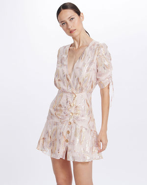 HARLOW MINI DRESS IN MORNING LIGHT