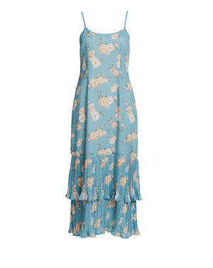 MIA DROP WAIST DRESS IN TEAL POSEY