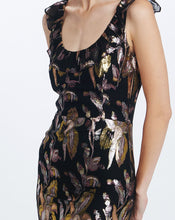 HARLOW FLOUNCE  DRESS IN REFLECTIONS