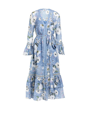 TABITHA SHIRT DRESS - CORNFLOWERS - HAILSPOT