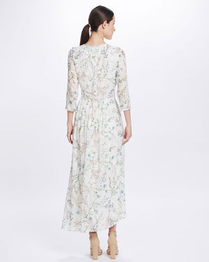 AMBROSIA MAXI DRESS - WHITE BLOOMS