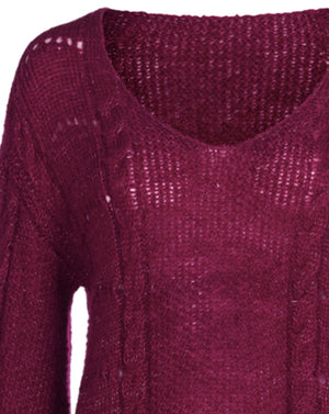 ODETTE MOHAIR KNIT IN VINO