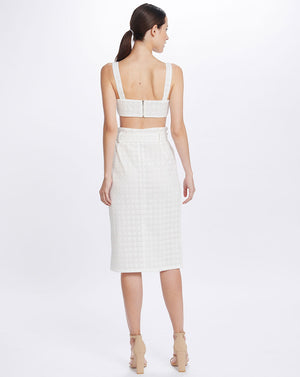LULU PENCIL SKIRT IN BROIDERIE