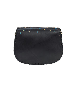 TIGGY MIDNIGHT LOVER PAISLEY HOBO BAG IN BLACK, TIGGY BY CUDDINGTON