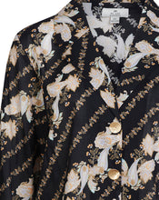 BRONTE LOOSE SHIRT IN BLACK PAISLEY