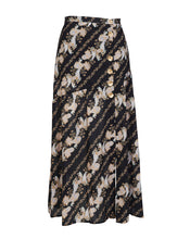 BRONTE MIDI SKIRT IN BLACK PAISLEY