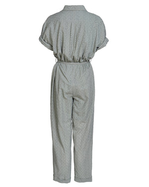 BRONWYN BOILERSUIT IN SAGE