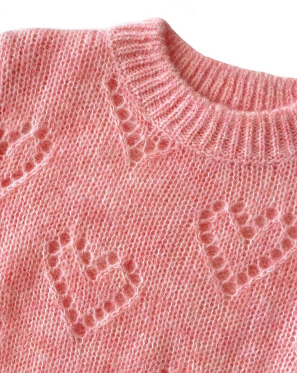 HEART TO HEART KNIT IN PINK, BY PLAY ETC