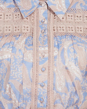 SORRENTO BLOUSE IN CORNFLOWER PAISLEY