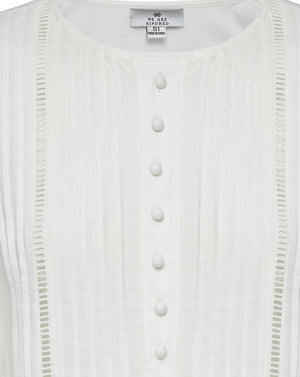 BEATRIX COTTON DAY DRESS IN IVORY DAISY