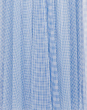 VALENCIA MAXI DRESS IN CORNFLOWER CHECK