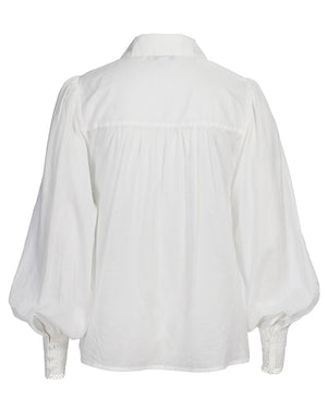 SORRENTO BLOUSE IN IVORY