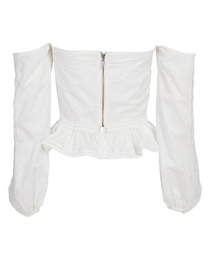 SORRENTO BUSTIER IN IVORY